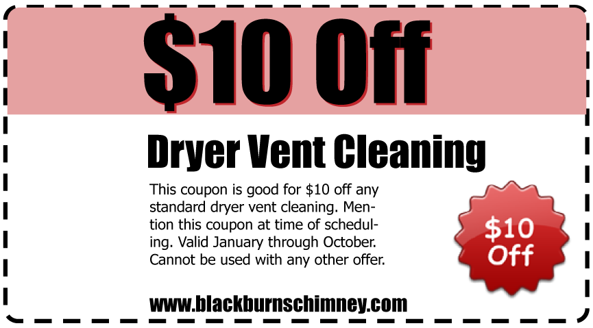 $10 Off Dryer Vent Cleaning
